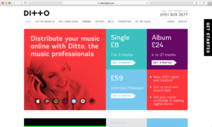 Ditto Music website