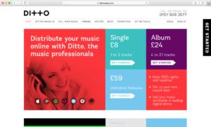 Ditto Music website