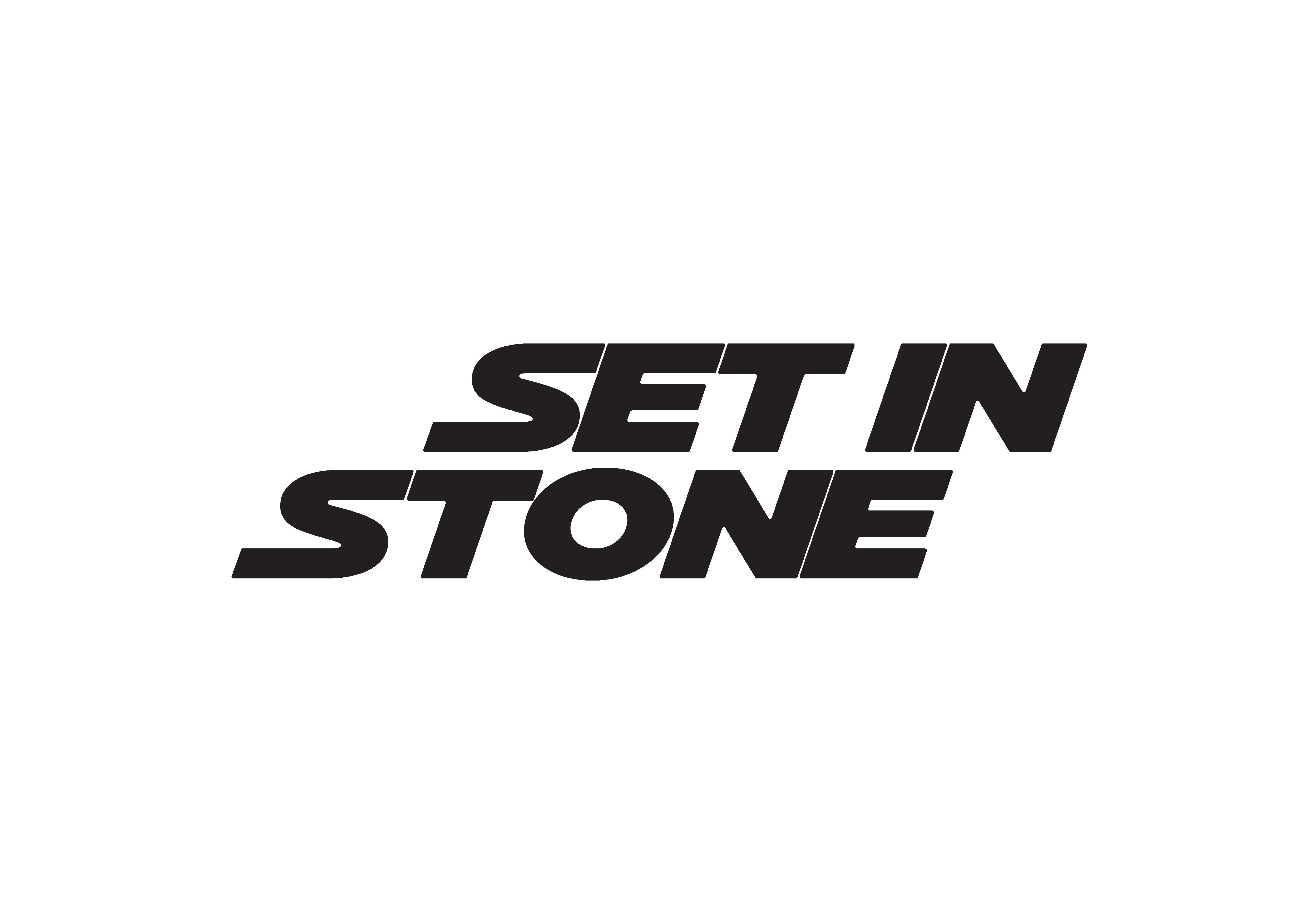 Set in Stone Merch