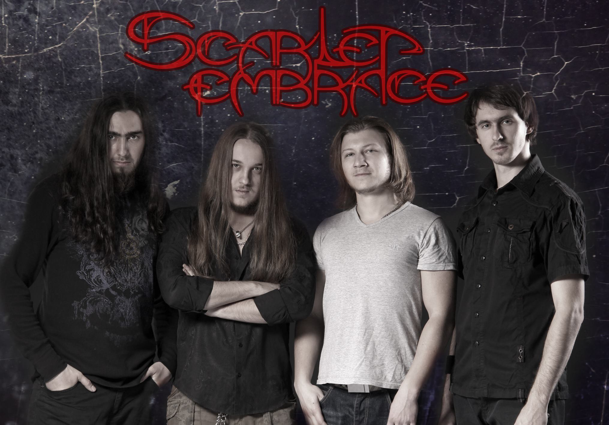 Merch of metal band The Scarlet Embrace